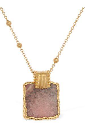 Missoma Rhodochrosite Lena Charm Long Necklace