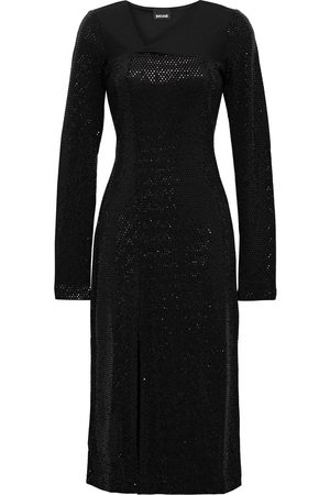 JUST CAVALLI Women Knitted Dresses - Woman Burnout-effect Sequined Stretch-knit Dress Size 38