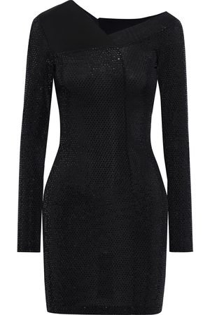 Roberto Cavalli Women Knitted Dresses - Woman Burnout-effect Sequined Stretch-knit Mini Dress Size 38