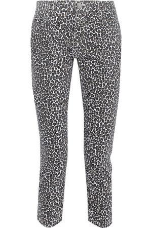 Current/Elliott Women Slim - Woman The Fling Leopard-print Low-rise Slim-leg Jeans Animal Print Size 23
