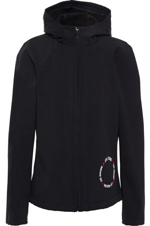 LOVE MOSCHINO Woman Embroidered Woven Hooded Jacket Size 38