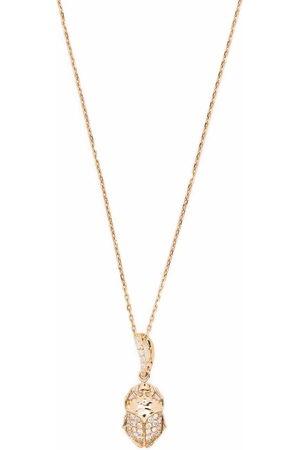 Aurelie Bidermann 18kt yellow Beetle diamond necklace