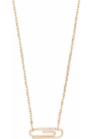 Aurelie Bidermann 18kt yellow Paper Clip diamond necklace