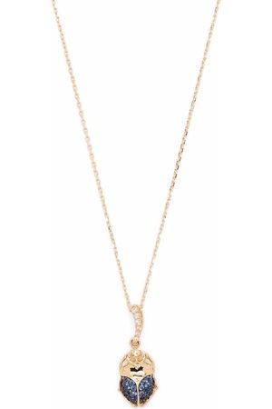 Aurelie Bidermann Women Necklaces - 18kt yellow Beetle sapphire and diamond necklace