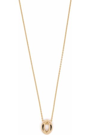 Le Gramme 18kt yellow logo-engraved necklace