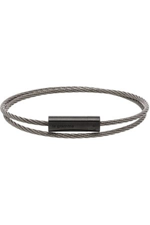 Le Gramme 7g brushed double cable bracelet