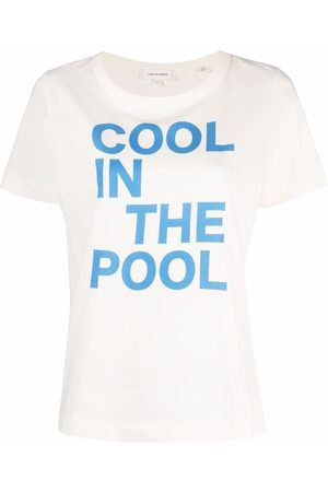 Chinti And Parker Women Short Sleeve - Cool in the Pool print T-shirt - Neutrals