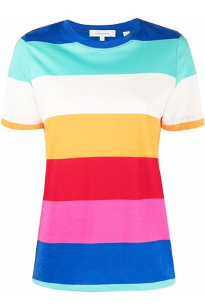 Chinti And Parker Women Short Sleeve - Dyed rainbow stripe T-shirt