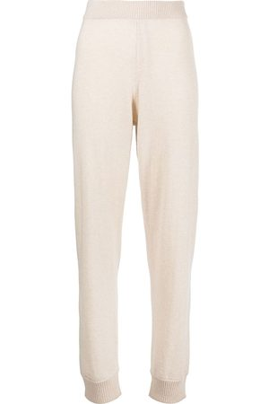ROSETTA GETTY Knitted cashmere track pants - Neutrals