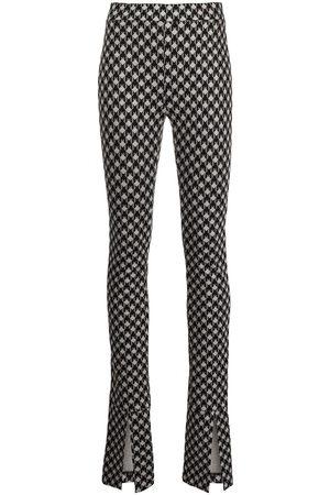 Rosetta Getty Skinny split-cuff trousers