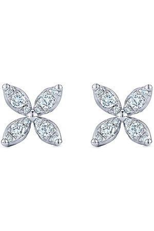 KWIAT 18kt white gold Sunburst X diamond earrings