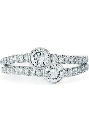 Kwiat 18kt white gold diamond Duet round ring