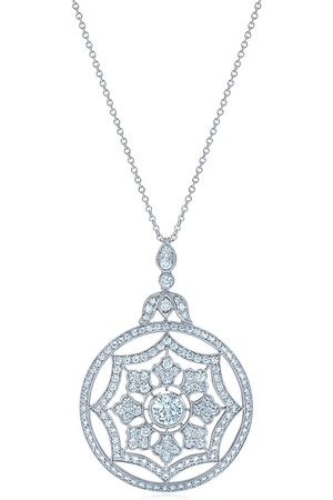 Kwiat 18kt white gold Splendor diamond web pendant necklace