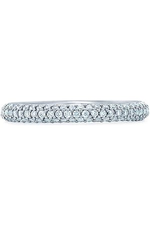 Kwiat 18kt white gold Moonlight 3-row pave diamond ring