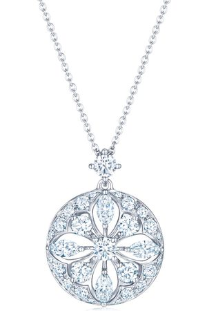 Kwiat 18kt white gold star diamond pendant necklace
