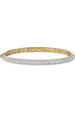 KWIAT 18kt yellow diamond Moonlight three-row medium bangle