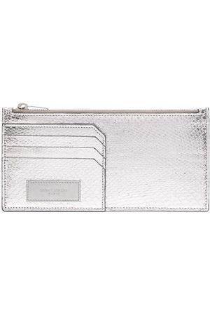 Yves Saint Laurent Pre-Owned Women Purses & Wallets - Logo patch snakeskin-effect wallet