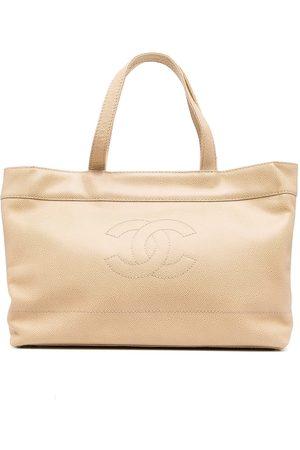 CHANEL 2002 CC stitch tote bag