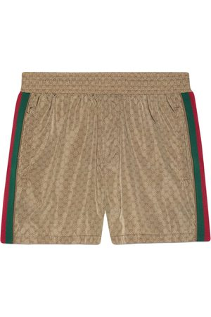 Gucci Men Sports Shorts - GG Supreme-print shorts