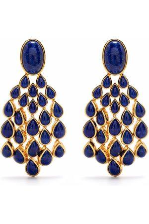 Aurelie Bidermann Women Earrings - Lapis Lazuli Cherokee clip-on earrings