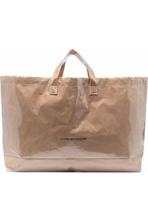 Comme Des Garçons Logo print paper bag - Neutrals
