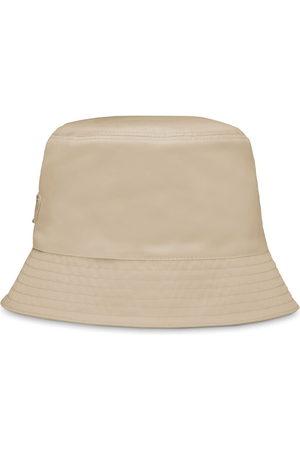 Prada Women Hats - Re-Nylon bucket hat - Neutrals