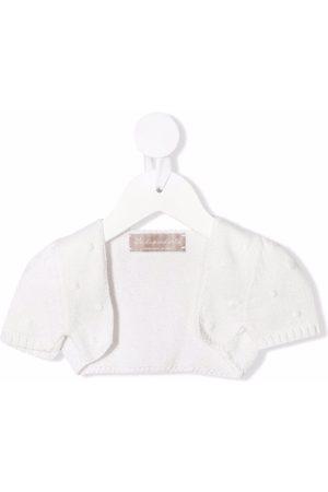 LA STUPENDERIA Polka dot-embroidered cotton bolero