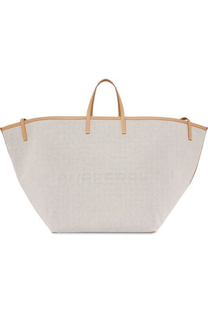 Burberry Extra large logo-embossed tote - Neutrals