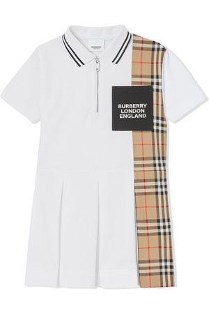 Burberry Polo Shirts - Check-print panel polo-shirt dress