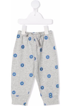 Stella McCartney Kids Trousers - Floral-embroidered sweatpants