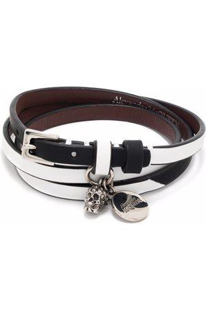 Alexander McQueen Skull charm double-wrap bracelet