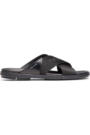 Prada Men Sandals - Logo-detail crisscross slides