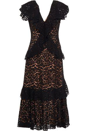 Michael Kors Woman Tiered Cotton-blend Corded Lace Midi Dress Size 0