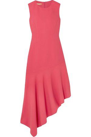 Michael Kors Woman Asymmetric Stretch-wool Cady Dress Size 10