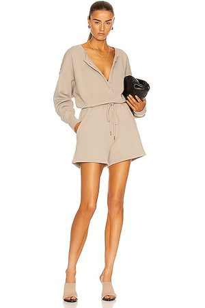 Citizens of Humanity Loulou Fleece Romper in Feather