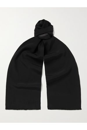 Tom Ford Logo-Embroidered Silk Scarf