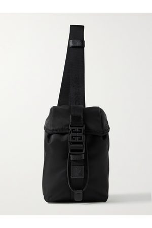Givenchy Men Purses & Wallets - Mini Leather-Trimmed Nylon Sling Backpack
