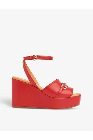 LK Bennett Women Sandals - Selene platform leather sandals