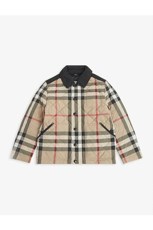 Burberry Kids Jackets - Renfred check-print quilted jacket 3-14 years
