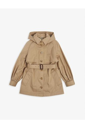 Burberry Girls Trench Coats - Julieta single-breasted cotton hooded trench coat 3-14 years