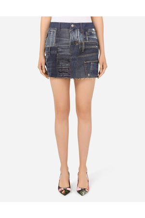 Dolce & Gabbana Skirts - Patchwork denim miniskirt female 46