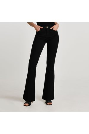 River Island Women Trousers - Womens mid rise flare jeans