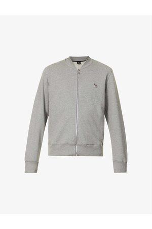 Paul Smith Zebra-embroidered long-sleeve organic-cotton bomber jacket