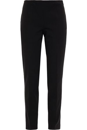 Michael Kors Woman Cropped Stretch Cotton And Modal-blend Twill Slim-leg Pants Size 0