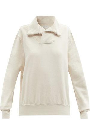 Les Tien Yacht Brushed-back Cotton Sweatshirt - Womens - Ivory