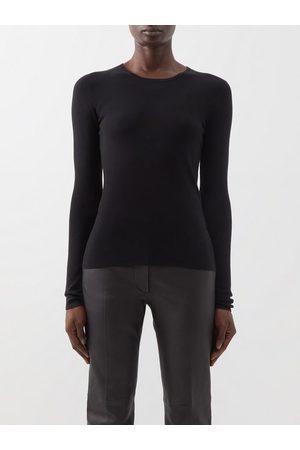 Joseph Round-neck Silk-blend Sweater - Womens