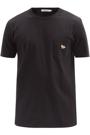 Maison Kitsuné Profile Fox-patch Cotton-jersey T-shirt - Mens