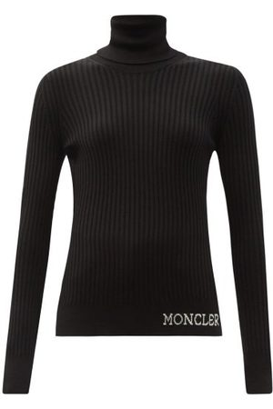 Moncler Ciclista Roll-neck Ribbed Wool Top - Womens