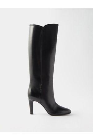 Saint Laurent Women High Leg Boots - Jane Knee-high Leather Boots - Womens