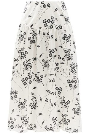 Women Midi Skirts - Julie De Libran - Gilda High-rise Floral-print Silk Midi Skirt - Womens